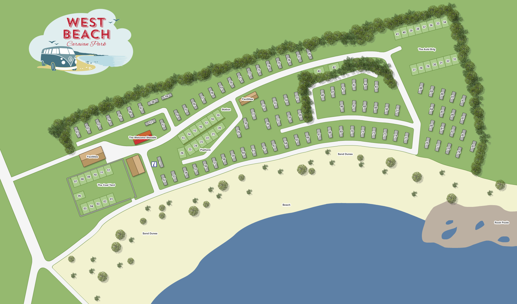 Site Map & Location - West Beach Caravan Park